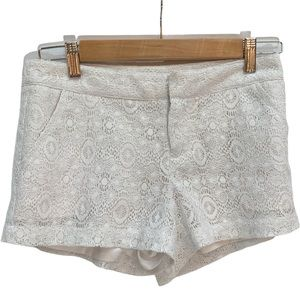 Guess🌸White Lace Short Shorts Size 24